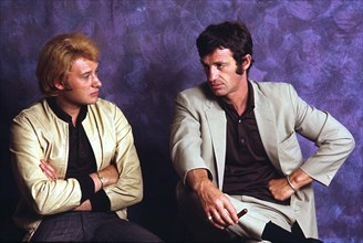 Johnny Hallyday et Jean-Paul Belmondo