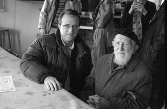 Philippe Robinet et l'Abbé Pierre