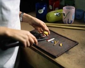 Marie Brandolini dans son atelier