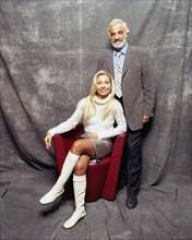 Jean-Paul Belmondo et son épouse, Les acteurs