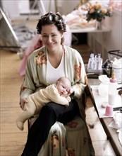 Daniela Lumbroso et son enfant