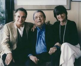 Michel Sardou, François Périer, Anne-Marie Périer-Sardou