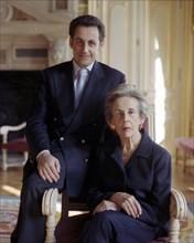 Nicolas Sarkozy et sa mère