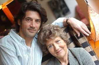 Bruno Madinier et sa mère