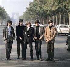 Les Rolling Stones sur les Champs Elysées à Paris