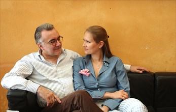 Alain Ducasse et son épouse