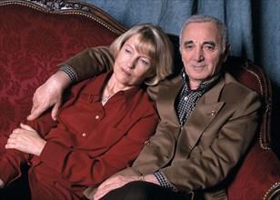 Charles Aznavour et son épouse