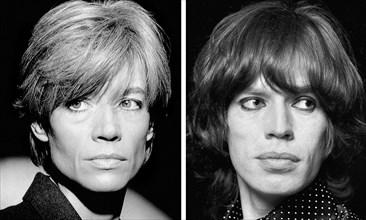 Françoise Hardy et Mick Jagger