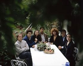 Christophe Donner, Christophe Bataille, Caroline Bongrand, Emmanuel Carrère, Régine Deforges, Patrick Besson, et Amélie Nothomb