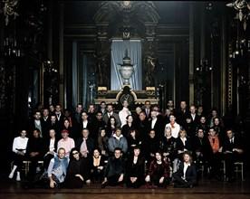 Robert Altman et l'équipe du film Prêt-à-Porter
