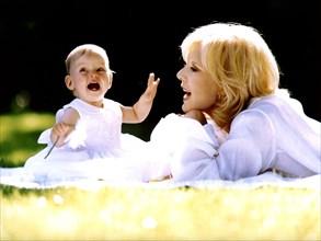 Sylvie Vartan et sa fille adoptive, Darina