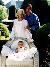 Sylvie Vartan, son mari Tony Scotti, et leur fille adoptive, Darina