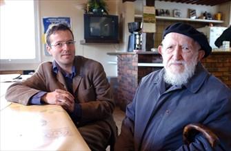 Abbé Pierre et Martin Hirsch