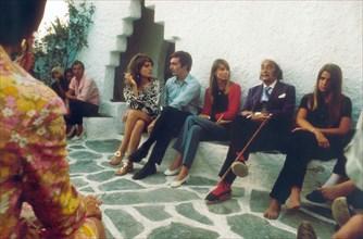 Françoise Hardy et Salvador Dali, 1968