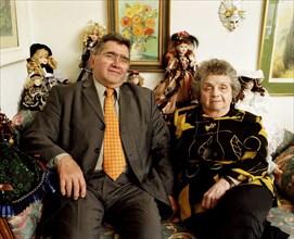 Claude Allègre et sa mère