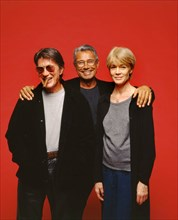Jacques Dutronc, Jean-Marie Périer et Françoise Hardy