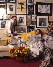 Christian Lacroix et sa femme