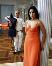 Monica Bellucci et Gianni Versace