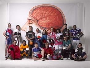 Groupe de sportifs