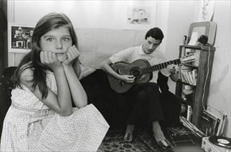 Jean Ferrat et sa belle-fille Véronique Estel