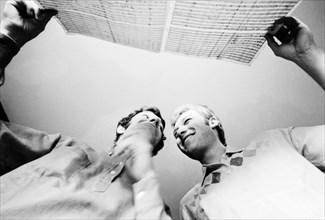 Johnny Hallyday et Long Chris