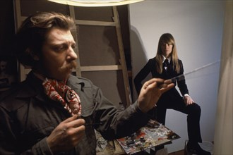 Françoise Hardy et Charles Matton, 1967