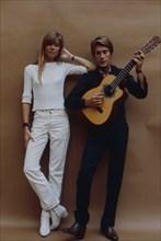 Françoise Hardy et Jacques Dutronc, Paris, 1967
