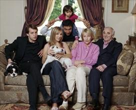 Charles Aznavour en famille