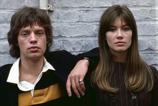 Françoise Hardy et Mick Jagger, 1965
