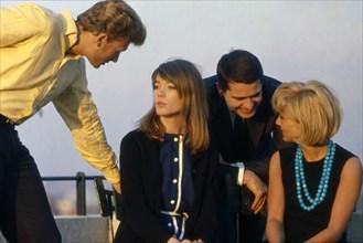 Françoise Hardy, Johnny Hallyday et Sylvie Vartan, 1963