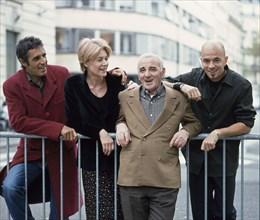 Julien Clerc, Françoise Hardy, Charles Aznavour et Pascal Obispo