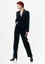 Sibyl Buck en tenue Yves Saint-Laurent