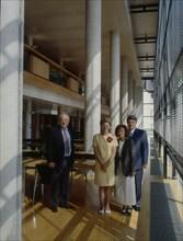 Françoise Barré-Sinoussi, Pierre Tiollais, Gérard Orth, et Marilyne Sasportes
