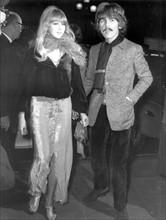 George Harrison avec sa femme Patti Boyd