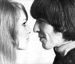 George Harrison et sa femme Patti Boyd janvier 1966