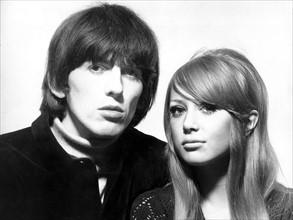 George Harrison et sa femme Patti Boyd
