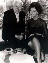Sophia Loren et Sydney Chaplin