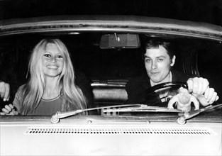 Brigitte Bardot et Alain Delon, 1967