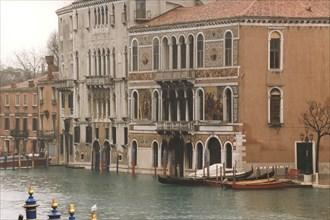 Barbarigo and Da Mula palaces, on Canal Grande in Venice