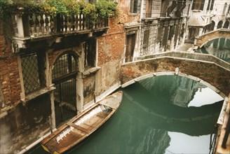 Rio Ca'Widmann in Venice and Pasqualigo Bridge