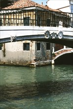 Santa Margarita bridge, San Pantalon bridge and Rio Ca'Foscari, in Venice