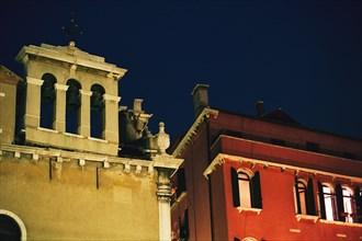 Facades at night
