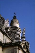 Venice, Detail of Santa Maria della Salute church
