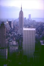 View of the World Trade Center and the Empire State Building