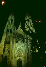 Night view, St Patrick's Cathedral