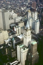 Overall view of Manhattan's Financial District
