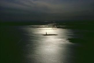 View of Liberty Island, New York
