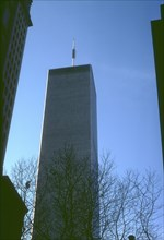 View of one of the towers of the World Trade Center, Manhattan