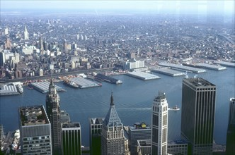 Aerial view of the East River