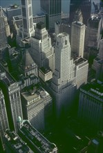 Aerial view of Manhattan's Financial District